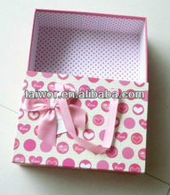Drawer style box for birthday gift package