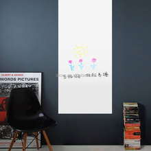 removable wall sticker PVC wall paper ZY227 office whiteboard 3D wall sticker art home decor for class&office room
