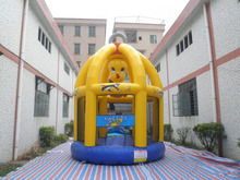 Wholesale price kids inflatable bouncer with basketball hoop