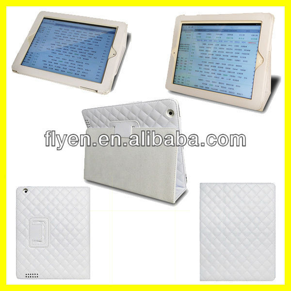 Sheepskin White PU Leather Folio Case Cover Stand For iPad 4 3 2 Tablet 9.7'' Wholesale Good Price