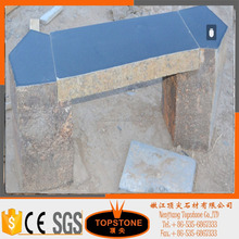 Natural Basalt Stone Patio Furniture Tile Top Table for sale