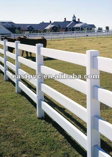 White vinyl split rail fence buy