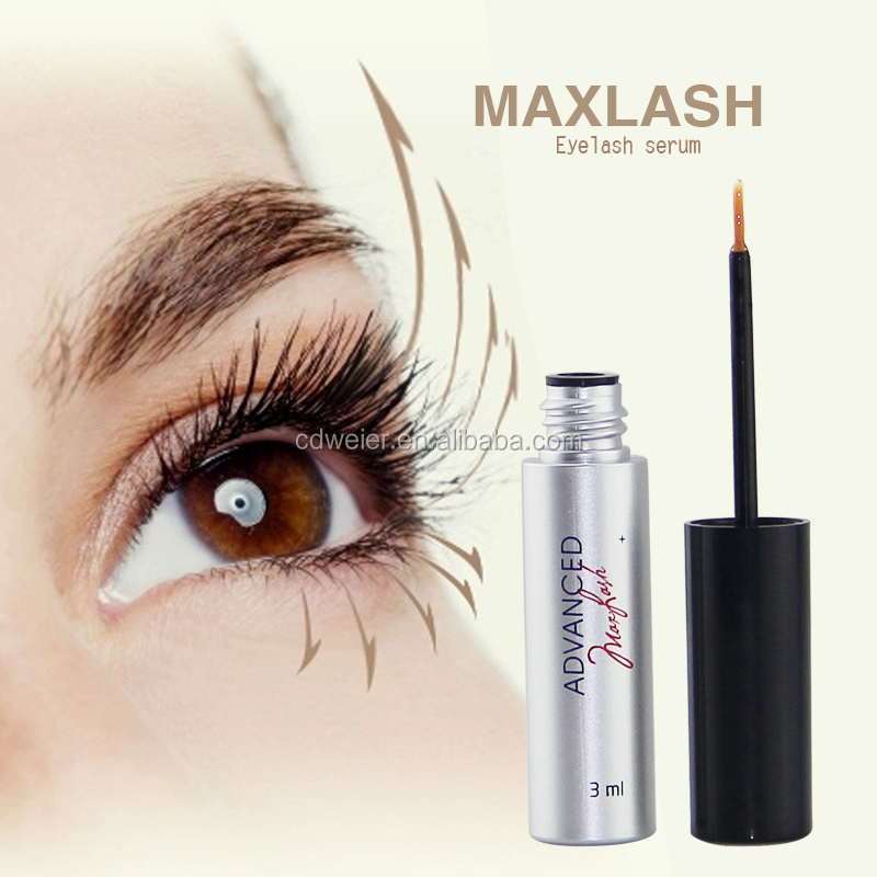 MAXLASH Natural Eyelash Growth Serum (pink tweezers for eyelash extensions)
