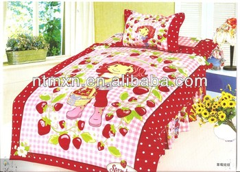 2014NEW classical design cotton fabric twill twin size WHOLESALE KIDS BEDDING SET