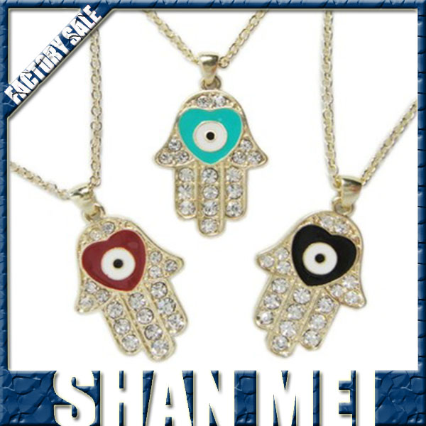 Fashion jewelry accessories hamsa necklace decoration necklace