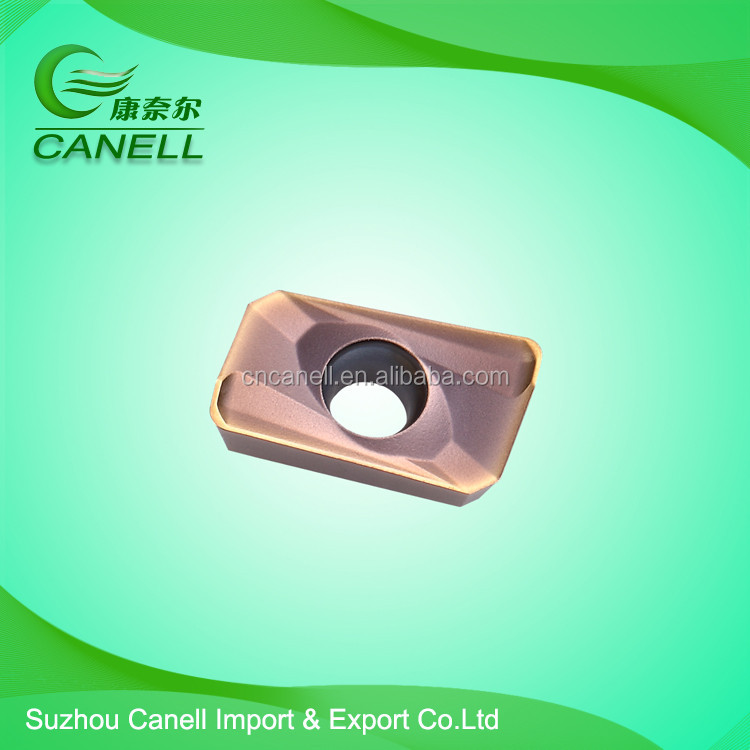 Carbide threading round cnc milling column insert