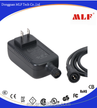 Factory price UL approved 12V 3A 36W IP64 waterproof power supply adapter for LED lighting US plug
