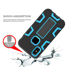 Matt skidproof hand free kickstand shockproof hybrid mobile phone cover case for samsung galaxy note 5 4 3
