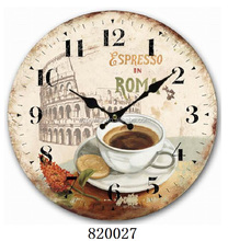 Kitchen cafe time decoration hanging wall plate gift table clock