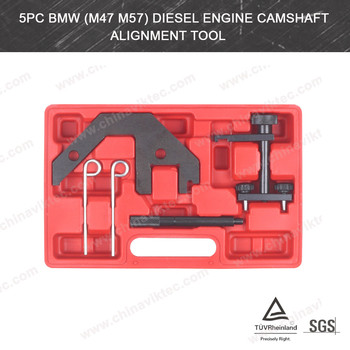 Automotive tool manufacturer 5pc Diesel Engine Camshaft Alignment timing tool set FOR BMW M47/M57 (VT01080)