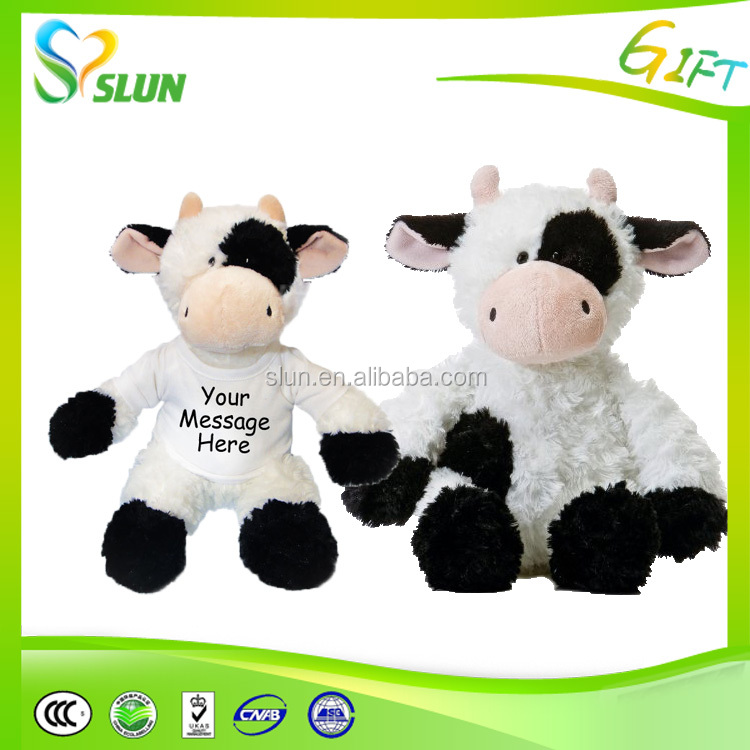 Professional manufacturer of plush dairy cattle hand puppet funny cow plush hand toys