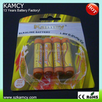 one-off remote control battery LR03 1.5V AAA alkaline battery