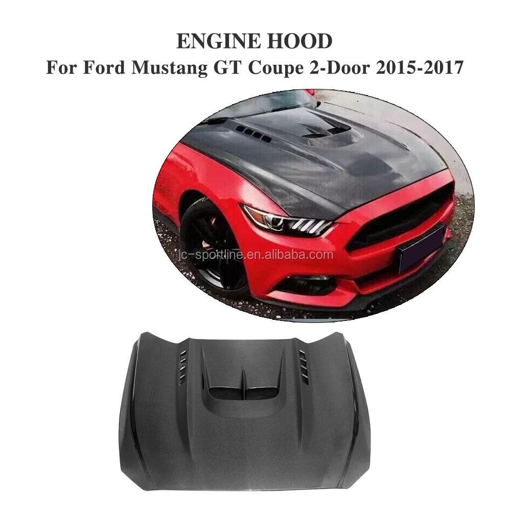 Carbon Fiber GT Car Engine Hoods for Ford Mustang GT Coupe 2-Door 15-17