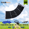 2pcs 50W sunpower high power solar panel parts wholessale price for Yacht,Roof Power Generation,Motorhome,Caravan,Campervan,RV