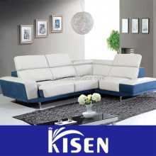 Home furniture living room modern half leather half fabric sofa