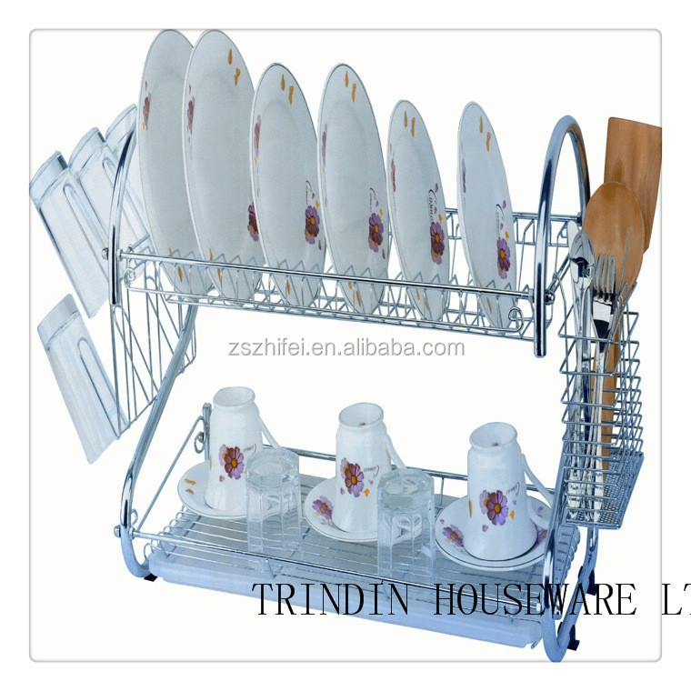 stailless steel Multi-function Kitchen dish rack and plate <strong>shelf</strong>