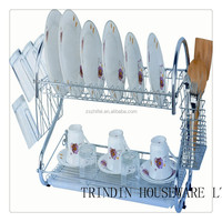 stailless steel Multi-function Kitchen dish rack and plate shelf
