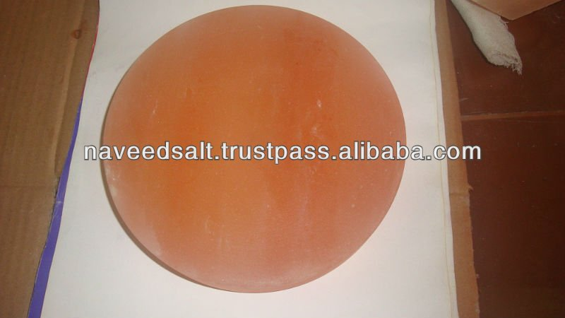Round Natural Himalayan Rock Crystal Salt Cooking Plates