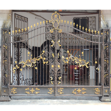 HS-002 cheap fence cast iron square tube gate philippines gates and fences design