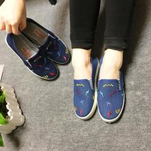 2017 new women's casual shoes denim shoes low shoes are made in China factory