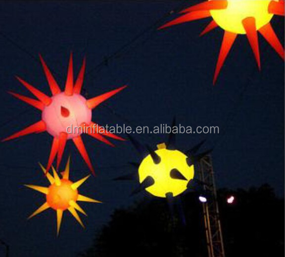 LED Inflatable Decorative Sun Flower Lighting for Ceiling Decoration