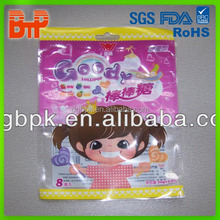 Top food grade laminated ziplock pouches plastic bag for Jelly candys/foods