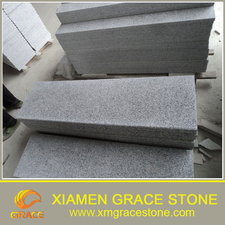 Chinese Cheapest G603 Grey Granite Stair For Sale