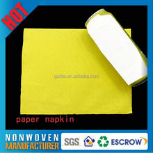 Good Water Absorbent Ability Embossed White Dinner Napkin 1/8 Fold
