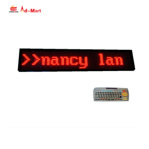 High Quality Programmable led scrolling text display Outdoor Bus Scrolling Led Sign