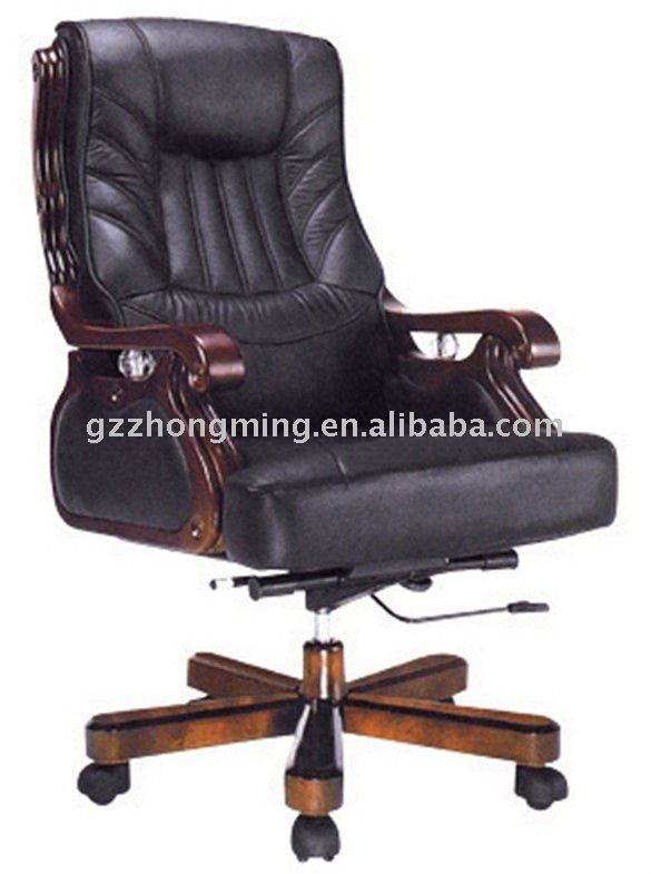 Comfortable chesterfield leather office chair BY-244