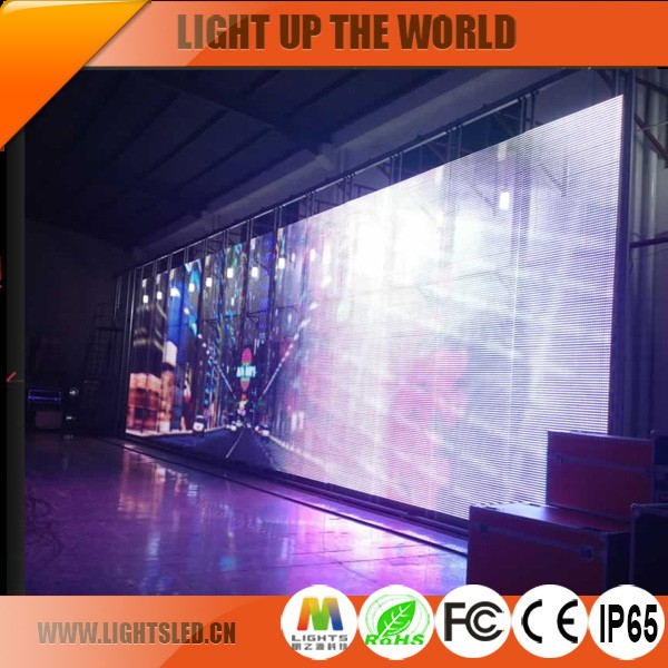 Transparent Curtain Programmable Mini Flexible LED Display P16