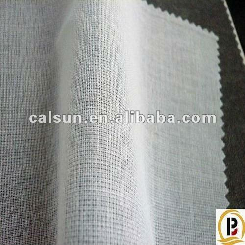 Collar/wristband woven fusible interlining buckram