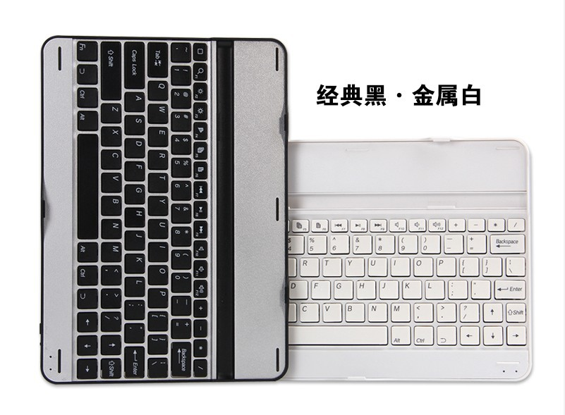 Brand Mental Aluminium Ultra Slim Mute Wireless Bluetooth ABS Keyboard For Samsung Galaxy Note 10.1 2014 Edition P600/P601/P605
