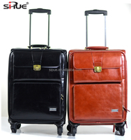 Unique products from China business travel luggage leather pilot trolley case (QS16038)