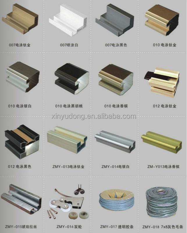 Aluminium Wardrobe Profile Aluminium Sliding Wardrobe