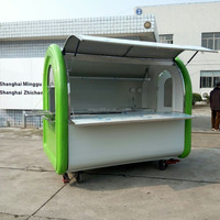 rolling fried ice cream trailer cart, China mobile food cart,food truck for sale in Philippines