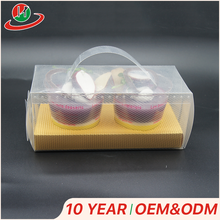 Best selling products pvc packaging cake box cupcake container with handle