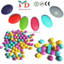 Beads For Teething Necklace Silicone Newest Flat Oval Beaded NeckalceSilicone BPA free teething Jewelery
