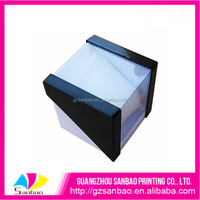 Luxury Genuine Leather clear PVC plastic packaging box for watch