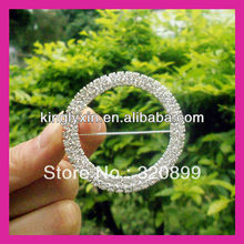 Hot Sell !50mm Outer Two Rows Wedding Chair Sash Buckle ,Rhinestone Buckle With PINBACK .Wedding Crystal Buckle For Chiar Cover