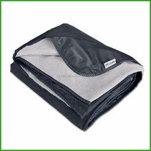 Grey Xl Plush Fleece Outdoor Stadium Waterproof Picnic Blanket