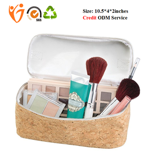 Fashion Bulk Large Blank Makeup Bag Eco-Friendly Wholesale Cork Cosmetic Organizer Bag Travel