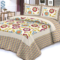 European Style polyester fitted bedspreads double