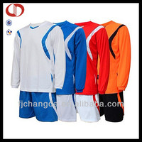 Customized england long sleeve dri fit soccer jerseys made in china
