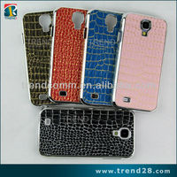accessories crocodile pattern leather sticker design case for samsung galaxy s4 zoom case cover
