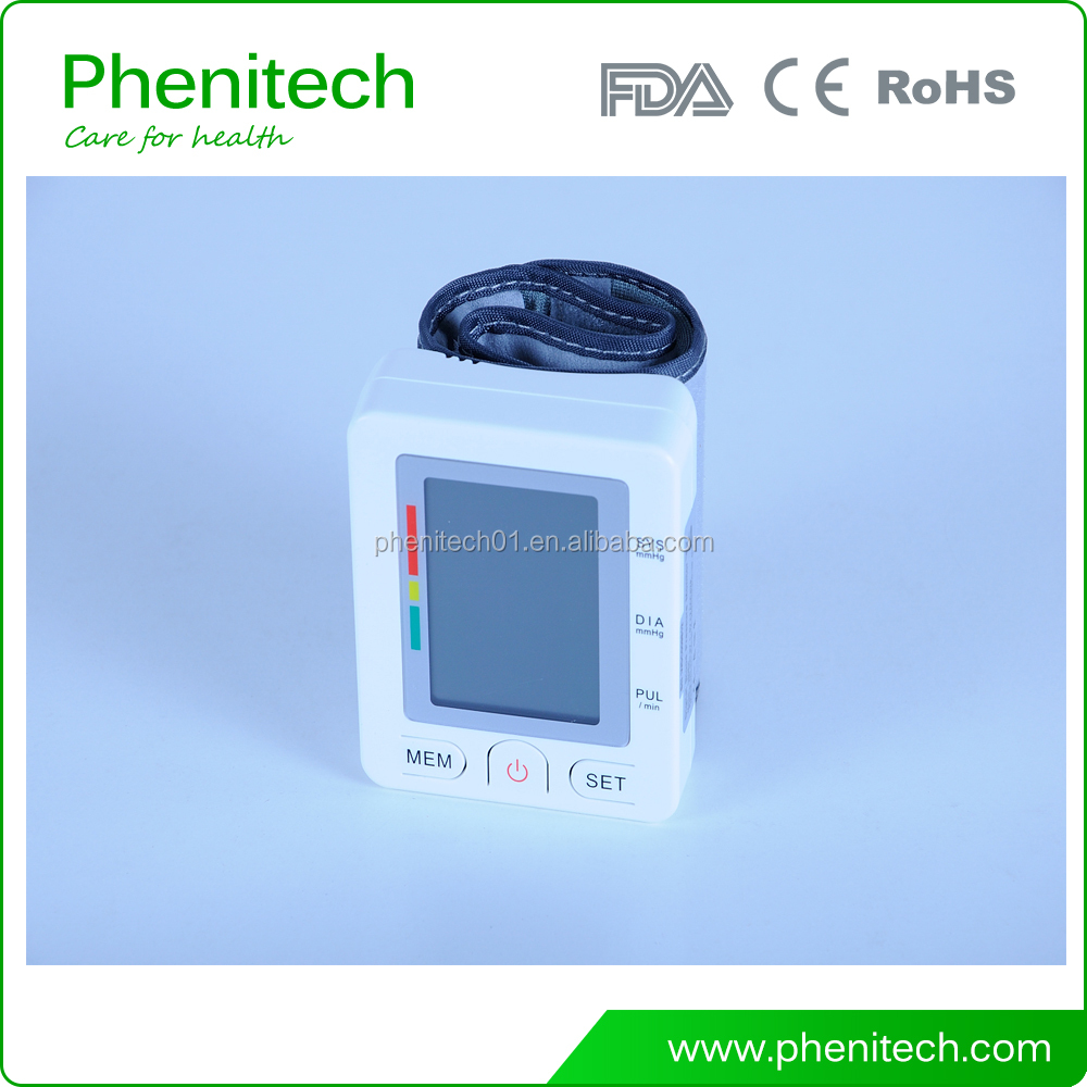 High quality medical/household use talking wrist blood pressure monitor