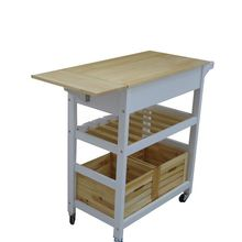 Yasen Houseware Food For Sale solid Kitchen wooden Trolley Cart