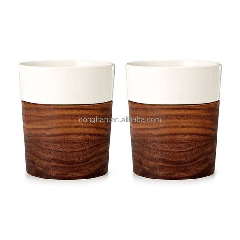 ceramic travel coffee cup bamboo fiber mug custom