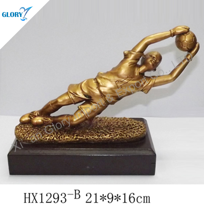 Wholesale Football Sculpture Goalkeeper Trophy
