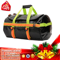 PVC 500D Mesh Fabric Single Shoulder Cylindrical Dry Waterproof Duffel Bag
